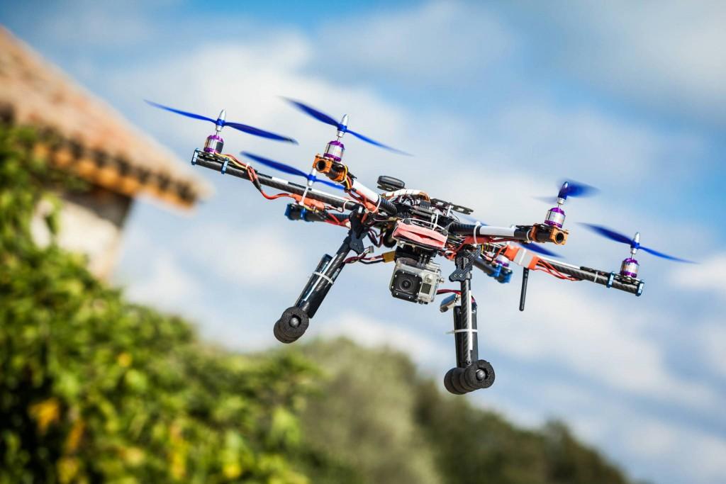 Drone equipaggiato con una GoPro