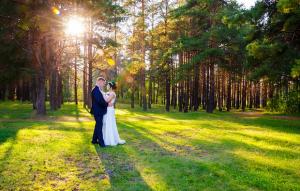 Ripresa aerea di un matrimonio tramite un drone