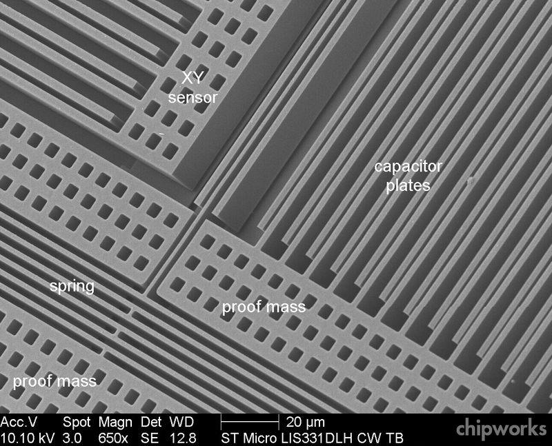 Interno di un chip MEMS