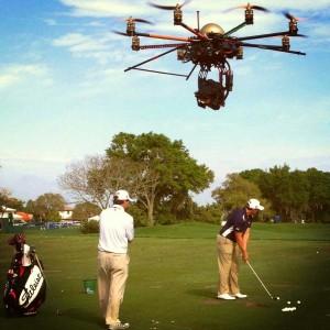 Uso dei droni nel golf