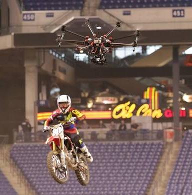 Ripresa aerea con un drone