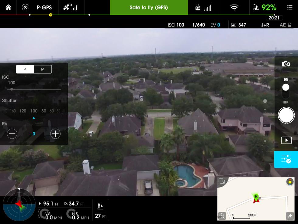 Il nuovo drone sembra agganciare i satelliti GPS molto più velocemente rispetto al passato e mostrandoli direttamente sull'app DJI Go