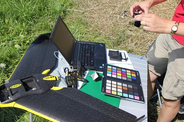 Il drone eBee utilizzato per la viticoltura di precisione.
