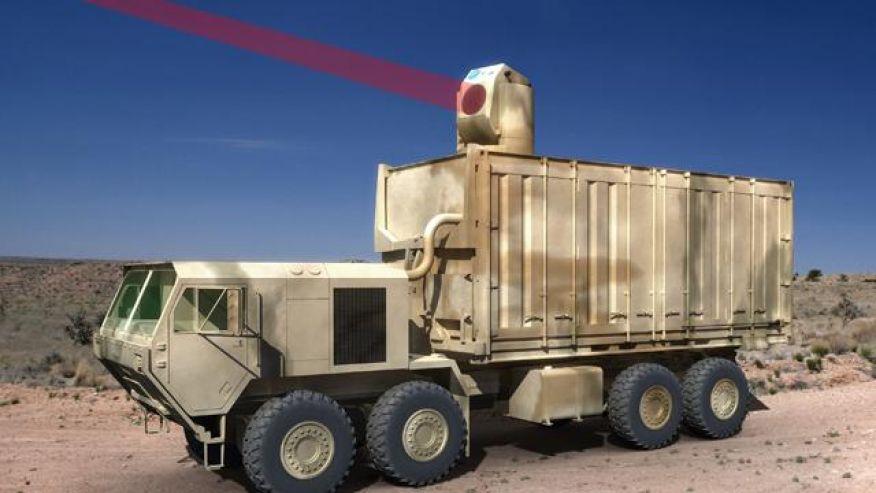 Laser montato su un camion