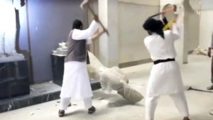 Distruzione di una statua