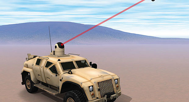 Laser montato su una nave