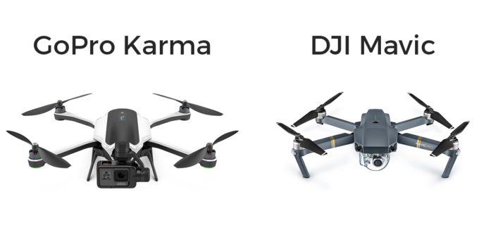 gopro karma vs dji mavic differenze